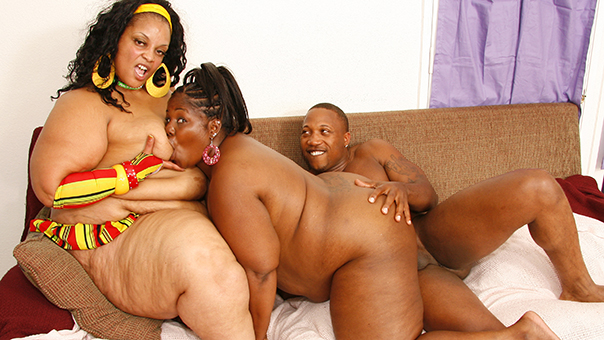 Threesome With Two Hot Fat Mamas